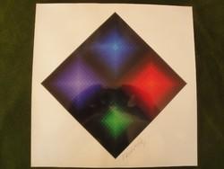 Vasarely Arcturus II.   artprint   / a mester aláírásával