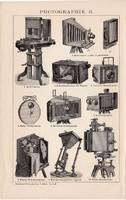 Fényképészet I., II., egyszínű nyomat 1894, német, eredeti, fényképezőgép, fotográfia, fénykép