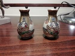 Régi mini japán vázák, 2 db