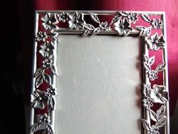 Apróvirágos ezüstözött képkeret