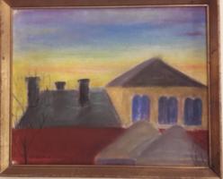 Koszta Rozália (1925-1994)pasztell festménye