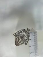 Filigrán medál ezüstből