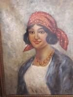 Olaj ,vászon festmény portré