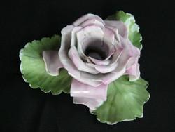 Herendi porcelán rózsa gyertyatartó - sérült