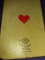 Antik Olasz gyártmányú mini méretű 32 lapos kávéházi Tarokk kártya a képek szerint