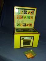 Régi ELZETT Lemezárugyár igen ritka tűzhely fém lemez  baba játék szerepjáték