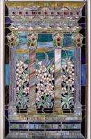 Szecessziós üveg panel fali