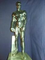 Palotai Szkalos Gyula köztéri szobor terve Papp László 1951 58 cm