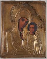 Kazanyi Istenanya, Antik oklad ikon, réz borítással,