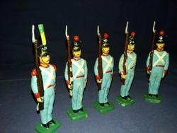 Antik préselt festett bakelit  játék katona hadsereg a képen látható szép állapotban