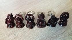 Kabala buddha kulcstartók +2db mini buddha ajándék