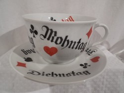 Porcelán - Seltmann - fél literes mogyyoró tartó csésze - alj 19  kártyázáshoz - gyönyörű - hibátlan