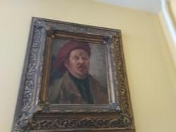 Férfi portré, önarckép blondel keretben