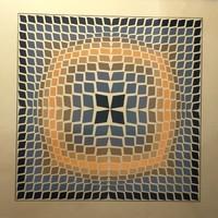 Victor Vasarely (1906-1997) Original Sikscreen / Szerigráfia 60x60 cm