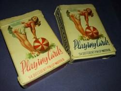 Régi erotikus francia kártya römi kártya  Pin - up girl 2 pakli a képek szerint