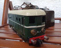 Ritka O-ás Máv Pv1 Pénzverde mozdony vonat vasútmodell + trafó
