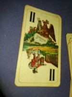 Antik magyar CHROMO Kártyagyári 22 lapos vető jós Tarokk kártya a képek szerint