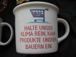 Gmundner reklám bögre