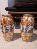 Altwien porcelán váza pár