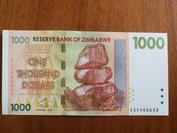 Zimbabwe 1000 Dollár 2007 aUNC