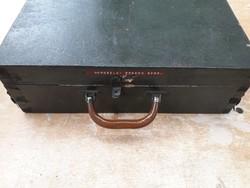 Régi katonai doboz - fa koffer - tulajdonos nevével