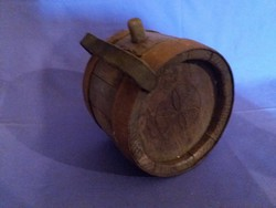 Antik vasabroncsos Jászsági mintás fa csobolyó 19.század