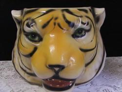 Tigrisfej kerámia kaspó nagyméret