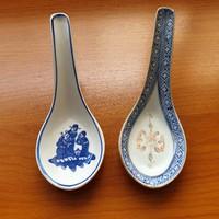 Porcelán kínai kanál 2 db együtt