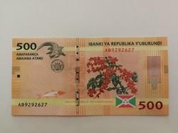 Burundi 500 Francs UNC 2015