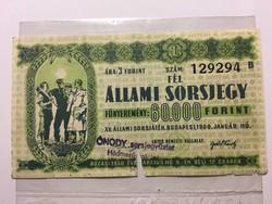 Állami Sorsjegy 1950   !!!!