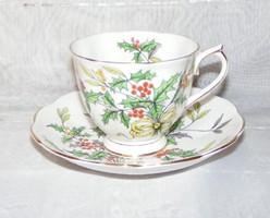 Angol Royal Albert Holly porcelán csésze és alátét