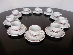 Retro Alföldi porcelán 10 személyes kávéskészlet