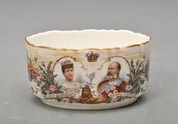 Antik angol cukorkás, VII. Edward király és Queen Alexandra arcképével, 1901-1910 között készült