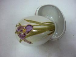 Antique floral egg-shaped bonbonier