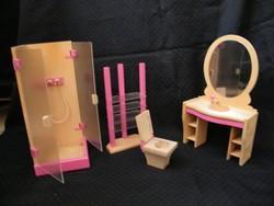 Fából készült retro bababútor fürdőszoba szett (Original Kuhn)
