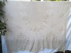 Horgolt függöny - 290 cm magas - 250 cm széles - bézs szín - vastag -  gyönyörű - hibátlan