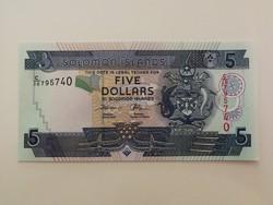 Salamon-szigetek 5 Dollar UNC 2008
