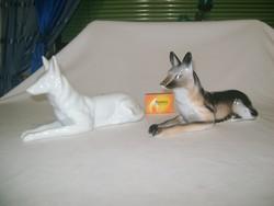 Porcelán kutya figura, nipp - két darab