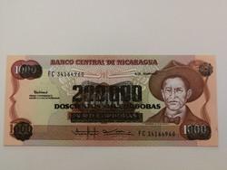 Nicaragua 200000 Cordobas felülnyomat 1000-en UNC 1990