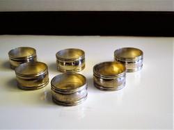 6 db ezüstözött szalvéta gyűrű
