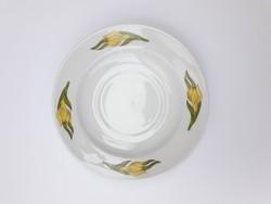 Alföldi retro porcelán nárciszos csészealj - nárcisz mintás kistányér