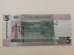 Szudán 5 Pounds 2015 UNC