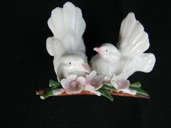 Capodimonte porcelán galamb pár