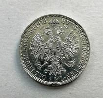 FERENCZ JÓZSEF EZÜST 1 FLORIN 1858 #2