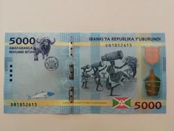 Burundi 5000 Francs UNC 2015