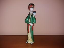 1,-Ft Makulátlan Herendi perzsa figura 17cm! Mesterfestő szignós!
