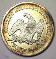 1854 HIBÁTLAN UNC LIBERTY USA EZÜST 900/1000 HALF DOLLÁR ÉRME GYŰJTEMÉNY NAGY ÉRTÉK