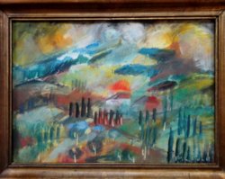 Pleidell János színpompás festménye