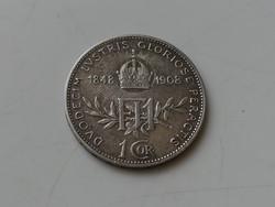 1 corona 1908 osztrák jubileumi EF
