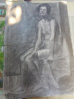 Varga Ferenc tempera/pasztell/színes grafika, kb.60x80, 2 db festőpapír